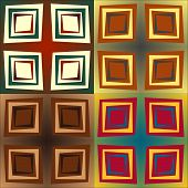 stock photo of quadrangles  - Set color of seamless patterns of geometric shapes and strips of different width - JPG