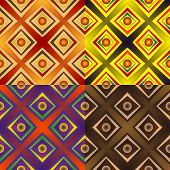 pic of quadrangles  - Set color of seamless patterns of geometric shapes and strips of different width with balls - JPG