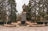 image of lenin  - Lenin statue in a park in the Russia - JPG