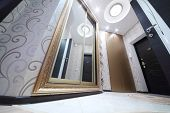image of bottom  - Interior hallway with entrance door and sliding mirror wardrobe - JPG