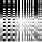 image of brighten  - Ray checkerboard theme black and white background - JPG