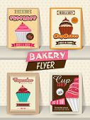 stock photo of recipe card  - Collection of Bakery flyer - JPG