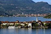 stock photo of lagos  - view of the famous Lago Maggiore Italy - JPG