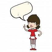 picture of maids  - cartoon maid with speech bubble - JPG