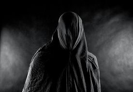 image of scary haunted  - Scary ghost in the dark - JPG