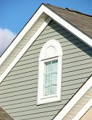House Gable over Blue Blue Sky