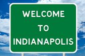 Welcome to Indianapolis Road Sign