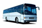 Light Blue Tour Bus