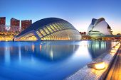 VALENCIA, SPAIN - MAY 4: Night scenery of Hemisferic and Palau de Les Arts on May 4, 2009 in Valenci
