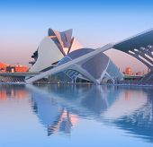 stock photo of calatrava  - Hemisferic and Palau de Les Arts in Valencia - JPG