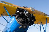 PALM COAST, FLORIDA - MARCH 27: A close-up of a bi-plane that is on display at the Wings Over Flagle