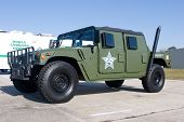 PALM COAST, FLORIDA - MARCH 27: A Humvee from the Flager County Sheriffs Office is on display at the