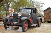 GREEN COVE SPRINGS, FLORIDA - APRIL 3: A 1930 Ford Model A Truck is on display at the Clay County Fair on April 3, 2010 in Green Cove Springs, Florida.
