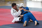 VALENCIA, SPAIN - JUNE 10: Contestants participating in the Judo Competition of the 2010 European Po