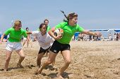 VALENCIA, SPAIN - JULY 3: Girls Rugby teams participate in the City of Valencia XIV International Be