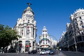 MADRID - AUGUST 7: The Gran Via in Madrid marked its 100 year history in 2010 and is the city's main