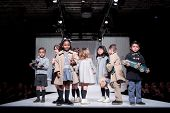 VALENCIA, SPAIN - JANUARY 21: unidentified children models at the FIMI Children's Winter Fashion Sho