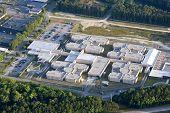 aerial view of medium security prison