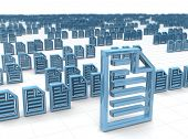 Electronic data storing and hosting concept 3d illustration