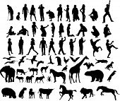 lots of silhouettes 1 (vector)