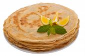 French Crepes - isolated with clipping path