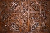 Wooden Door In La Alhambra