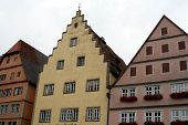 Ancient Architecture, Rothenburg Ob Der Tauber, Medieval Old Town In Germany