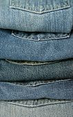 Jeans Piled Up