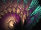 A Spiral Colorful Abstract Design