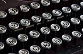 Vintage Cyrillic Typewriter Keyboard