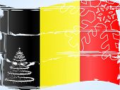 Abstract tree on the Belgian flag