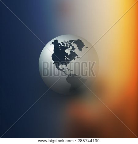 Colorful Earth Globe Design Layout