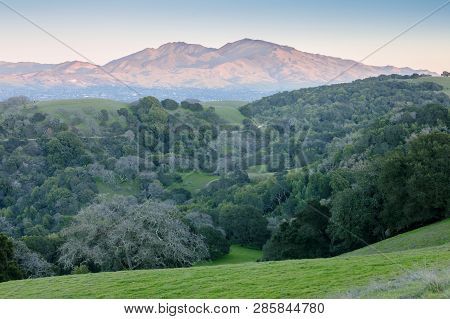 Mt Diablo As Seen From