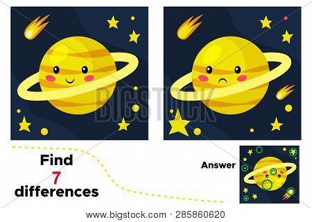 Cute Cartoon Saturn Educational Game