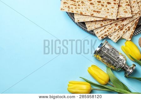 Flat Lay Composition With Matzo