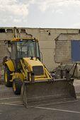 Construction Bulldozer Sitting Alone