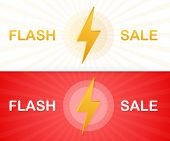 Flash Sale. Flash Ribbon Banner, Scroll, Price Tag, Sticker, Badge, Poster. Vector Stock Illustratio poster