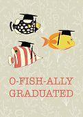 Fun Graduation Vector Design. Officially Graduated. Ofishally Graduated. Illustration Of Colorful Fi poster