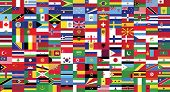 World Flag Collection.world Countries Flags Collection Drawing By Illustration.there Is One Hundred  poster