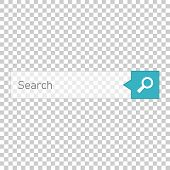 Search Bar Vector Ui Element Icon In Flat Style. Search Website Form Illustration Field. Find Search poster