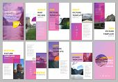 Creative Social Networks Stories Design, Vertical Banner Or Flyer Templates With Colorful Pink Gradi poster