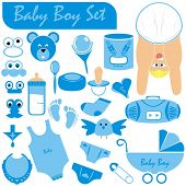 VECTOR - Baby Boy Set - Great Collection including (Baby Body & Face in nice position wearing diaper