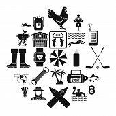 Underwater Adventure Icons Set. Simple Set Of 25 Underwater Adventure Icons For Web Isolated On Whit poster