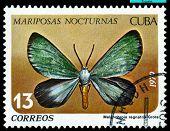 Vintage  Postage Stamp. Butterfly. Melanchroia Regnatrix.