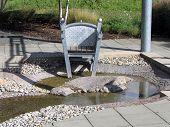 Outdoor foot bath chair