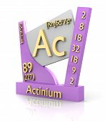 Actinio la tabla de forma periódica de elementos - V2