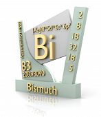 Bismuth Form Periodic Table Of Elements - V2