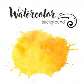 Watercolor Paint Blob Vector. Watercolor Paint Blob Vector Text Box Isolated For Design, Advertise,  poster