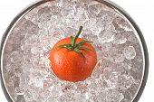 Red Tomato On Ice