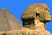 The Sphinx And The Great Pyramid, Giza, Egypt.